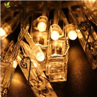 2.3M Mini 20 Led Clip String Lights Christmas Fairy Battery Lights Party Wedding Home Decoration