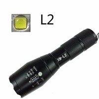 5000Lumens Updated E17 LED Flashlight Powerful CREE XML L2 5-Mode Zoomable Lamp Camping Torch A /18650By AA Rechargeable Battery