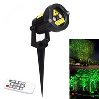 Outdoor Waterproof Green&Red Garden Tree Laser landscape Projector Decorative Lights with 10 Feet Cable Christmas Lights Star