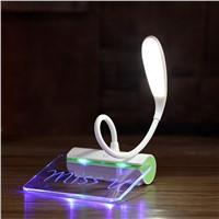 Message Leaving LED Table Desk Lamps Foldable Dimmable Luminaria De Mesa Reading Night Light For Computer Home Study