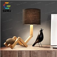 DIY Adjustable LED Table Lamp White/Black Bedside Reading Study Foldable Desk Light for Student Dorm Room American Country Style