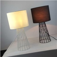 Creative American Iron Table lamp modern minimalist bedroom study desk lamp Home Decorations light