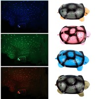 Led Night Light Moon and Stars Projector With 4 Light Music for Baby Children 4 Colors Turtle Lamp Toys Cute Design
