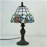 36cm Tiffany rose colored glass table lamp Bedroom study desk lamp Tiffany lighting lamp