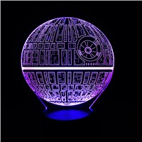 LED Light for home Bulb Ball Force Awakens Death Star Table Lamp 3D Death Star  Light Touch Switch Gifts Lamp for Star Wars Fans