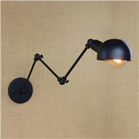 Wall Lamp Lights Retro Industrial Vintage Adjustable Wall Lamp Light Metal Rustic Lighting Fixtures