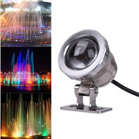 10W DC12V RGB LED Underwater Fountain Light Swimming Pool Pond Fish Tank Aquarium LED Light Lamp IP65 Waterproof