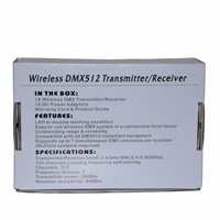 6 Pcs/lot 3 Pin DMX 512 Wireless Console Receiver 2.4G Wireless Transmitter& Wireless Receiver 512 Channels Controller