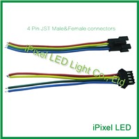 1000pcs 100mm LED Connector Cable,4 Pin 3528 5050 RGB Strip LED Connector