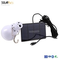 Solarparts 1x1.5W flexible solar panel 6V solar energy lamp powered portable led lighting solar camping light factory directly .
