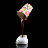 Creative Novelty DIY LED Table Lamp Home Romantic Pour Coffee Usb Battery Night Light