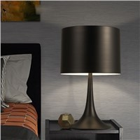 creative bedroom bedside table lamp Nordic study desk light decorative table lighting white/black