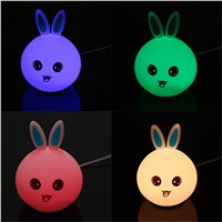 Rabbit Bunny Lights Luminous Toys Children  Baby Room Decoration Night Silicone Light Sleeping Lamp Best for Gifts