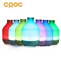 CRDC Air Humidifier Essential Oil Diffuser 200ml Aroma Essential Mist Humidifier 7 Color LED Lights Changing for Home Office