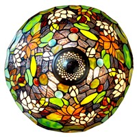 FUMAT Glass Art Table Lamps European Style Lotus Stained Glass Lamp Hand Made LED Bedside Living Room Decor Light Fixtures