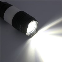 Pocket USB Rechargeable Flashlight Adjust Focus With Clip Tactical Torch 18650 Camping Torche
