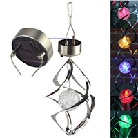Solar Powered LED Lamp Wind Spinner with Color Changing LED Solar Light High Bright Lamp Outdoor Hanging Garden Courtyard Decor