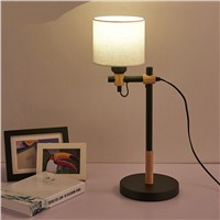 A1 Simple modern creative office desk lamp decorative lamp bedroom bedside lamp new Nordic Korean wood DESK lights MZ18