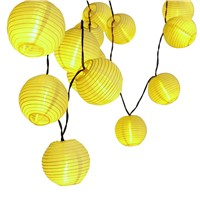Holigoo 30 LED Lantern Ball Solar String Lights Outdoor Lighting Solar Lamp Fairy Globe Christmas Decorative Light for Party