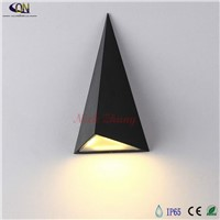 9W Modern COB led wall lamp, outdoor waterproof outdoor wall lights triangle, garden lights balcony aisle wall lamp AC85-256v
