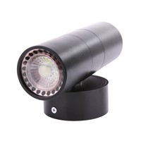 AC220-240V LED Wall Light Waterproof IP65 Stainless Steel Double Wall Light Up Down GU10 Indoor Outdoor Wall Light Black