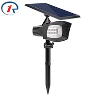 ZjRight 400lumen Outdoor Solar Lighting Patios Decks Pathways Stairways Security Solar Lamp LED Outdoor Garden lawn Spotlights