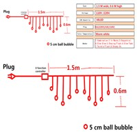 AIFENG 5CM party ball string fairy lights for bedroom balls bulb globe covers butterfly christmas icicle curtain LED warm white