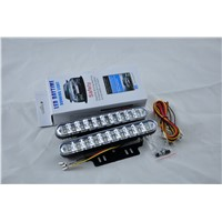 30 LED Parking Driving Lamp Daylight Lamp With Turn Strobe Lights 1pair Super White Car Daytime Running Light
