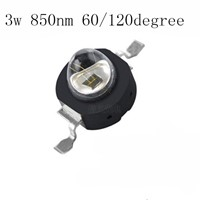 5pcs Infrared Red 850nm 1W High Power LED Chip IR 850Nm Epistar LED Beads for Night Camera
