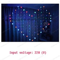 Christmas Lights Romantic warm lights Heart LED Curtain String Lighting For Wedding Garland Decoration