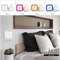 Horsten Creative LED Night Light AC110-220V US EU Plug 4 Colors Bed Lamp Auto light Sensor Night Lights Indoor Bedroom Lamp Baby
