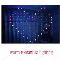 220V Romantic Fairy love shape LED Curtain String Lighting For Holiday Wedding Garland Party Decoration