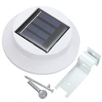 EWS  2pcs 3 LED Solar Sun Powered Outdoor Garden Lighting Warm White light