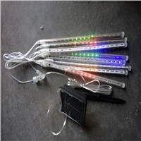 8 Tubes 30cm  50cm Solar Power LED Meteor Shower Rain Tube lights Waterproof Lamp Tube String Light Wedding Garden Decoration