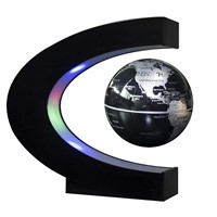 new C Shape led night light with Magnetic Levitation Floating Globe World Map 3 Colors for Home and Office Decoration, Kids Gift