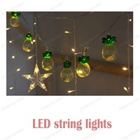 Pineapple Fairy String Light Holiday Lights Garland 10Leds Battery Powered room Lamps
