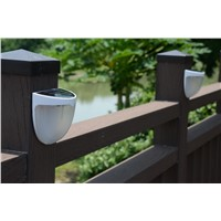 new style solar wall garden light rechargeable waterproof light