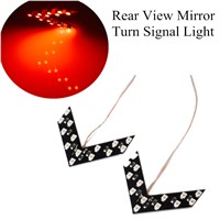 newest For Car Rear View Mirror Indicator Turn Signal Light parking light car styling 2 Pcs 14 SMD LED Arrow Panel