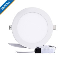 18W Round LED Panel Lights Ultra-thin Recessed Ceiling Lights AC85-265V LED kitchen DownLights indoor lighting bathroom lamps