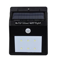 6-LED Solar Power 5.5V Solar Panel IP65 PIR Motion Sensor Wall Light Outdoor 120-140 LM Waterproof Garden Landscape Yard lamp