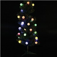30LED Solar Powered Starry Fairy Outdoor String Lights Ambiance Lighting for Landscape Patio Garden Christmas Party CLH
