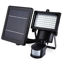 Waterproof LED Solar Lamp Pir 60 LEDs PIR Motion Detector Door Wall Light Outdoor Wall Lamp Spot Lighting Emergency Light