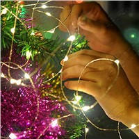 Solar Led String Lights 100 Led 10m Outdoor Christmas Garlands Waterproof Copper Wire Upgrade for Wedding Party Decoration