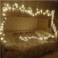 220V LED Curtain string lights star Holiday christmas Home Party Wedding decoration Led Fairy light