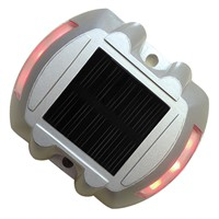 6 LED Solar Powered Security Lights Red
