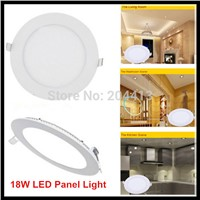 18W Round LED Recessed Ceiling Panel Lights Warm White Cool White 3000K 4000K 6000K Downlight LED Spot Lighting