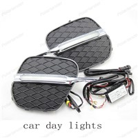 car styling Plastic ABS car accessories car covers for B/MW X5 E70 2007-2010 LED Daytime Running Light Daylight