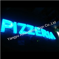 Outdoor Customized 3D led light up pizza shop sign letters