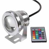 DC12V Outdoor Underwater Lighting 10W RGB Underwater LED Spot Light Flood Light Color Changing Lamp IP68 waterproof for Pond