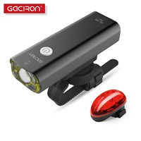 GACIRON USB Rechargeable bike Bicycle handlebar led lights torch flashlight with W04 tail light bicycle accessories
